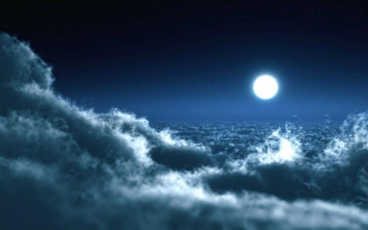 与少年三夜空风景